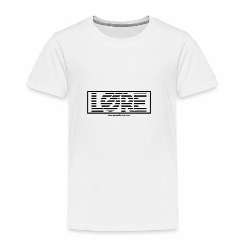 ''Lore'' Logo Zwarte Strepen - Kinderen Premium T-shirt