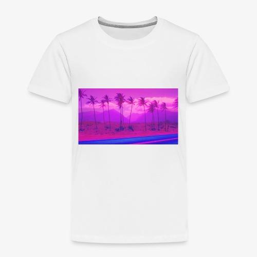 Vaporwave Landscape - Kinder Premium T-Shirt