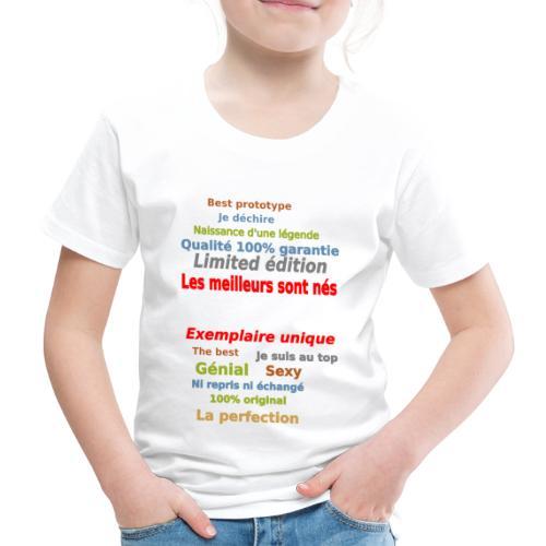 t shirt les meilleurs sont nés sweat shirt et mugs - T-shirt Premium Enfant