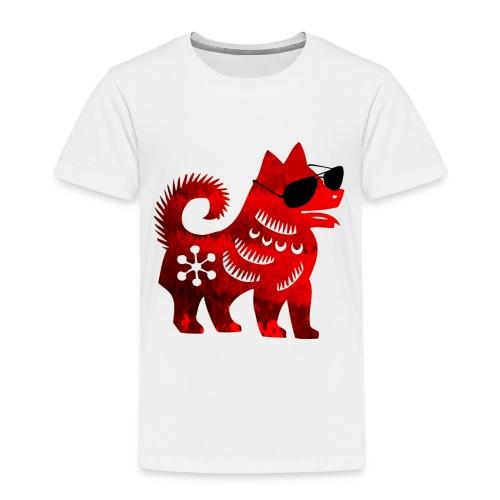 roter Hund Scherenschnitt 2 - Kinder Premium T-Shirt