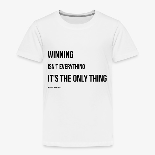 Football Victory Quotation - Kids' Premium T-Shirt
