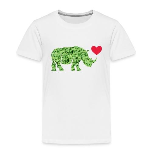 Russell Rhino Green Leaf - Kids' Premium T-Shirt