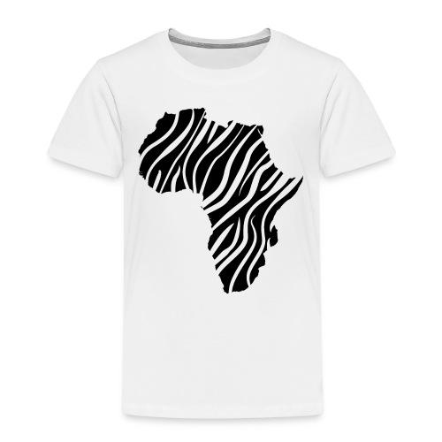 African continent in dark zebra stripes - Kinderen Premium T-shirt