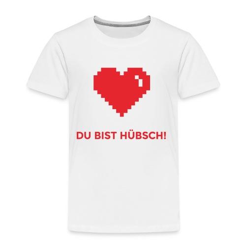 Du bist hübsch Herz Valentinstag Geschenkidee - Kinder Premium T-Shirt
