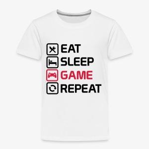 eat sleep game repeat - Kids' Premium T-Shirt