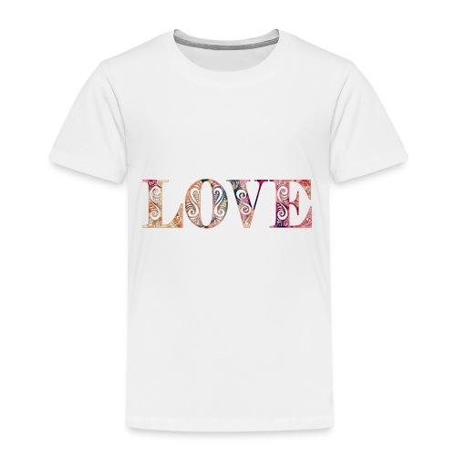 LOVE gemustert - Kinder Premium T-Shirt