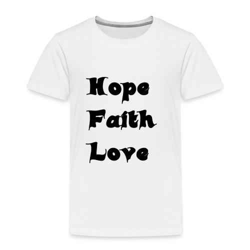 Hoffnung, Glaube, Liebe - Kinder Premium T-Shirt