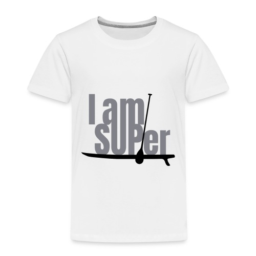 IamSUPer 002 design blackgrey Artboard 1 - Kinder Premium T-Shirt