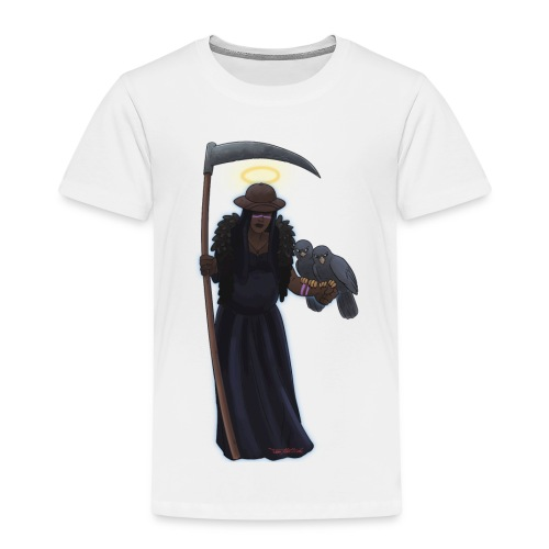 Malaria falciparum - schwarze Dame mit Sichel - Kinder Premium T-Shirt