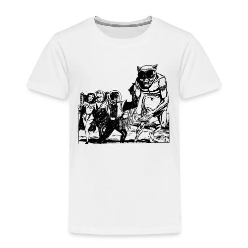 Altes Retrozukunft Alien Monster Design - Kinder Premium T-Shirt