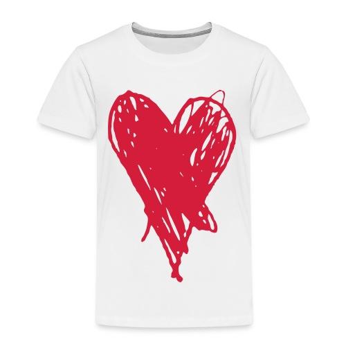 Cœur et amour pour dire je t'aime, i love you - T-shirt Premium Enfant