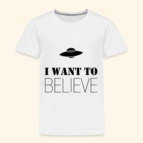 I Want To Believe - Camiseta premium niño