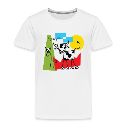 vache-noir-et-blanc et couleurs - T-shirt Premium Enfant
