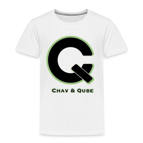 Chav & Qube Logo Zwart - Kinderen Premium T-shirt