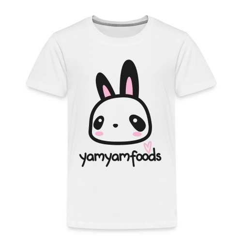 Yam Yam Panda-Hase - Kinder Premium T-Shirt