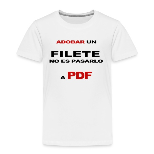 adobar un filete - Camiseta premium niño