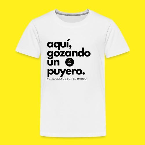 aqui gozando un puyero - Camiseta premium niño