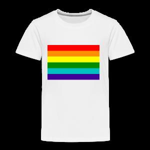 Gay pride rainbow vlag - Kinderen Premium T-shirt