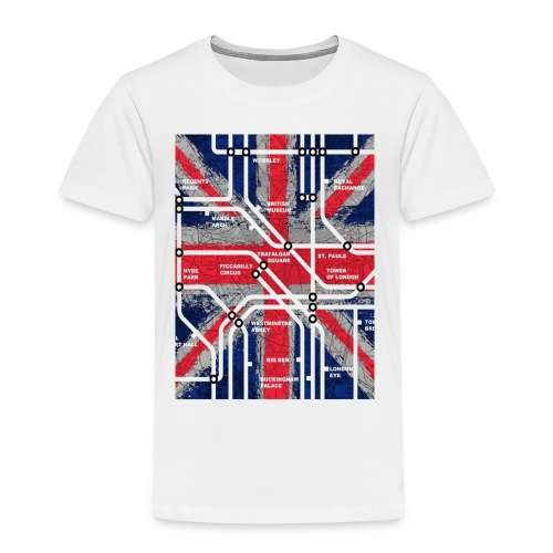 tube map - Kids' Premium T-Shirt