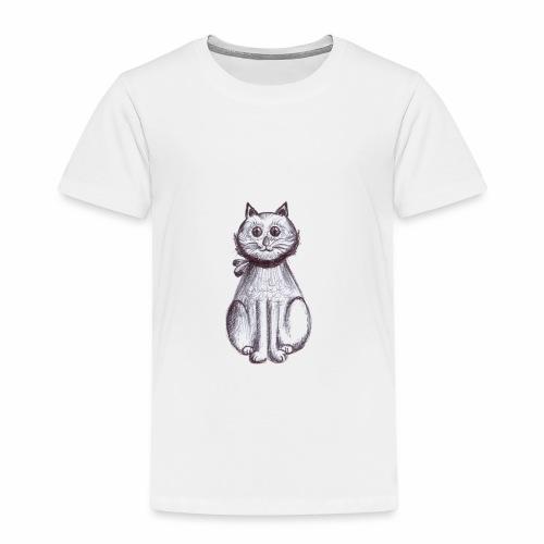 Gattino seduto - Maglietta Premium per bambini