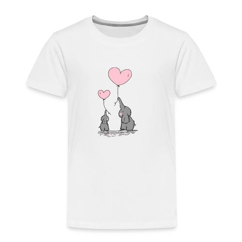 Éléphant Amoureux - T-shirt Premium Enfant