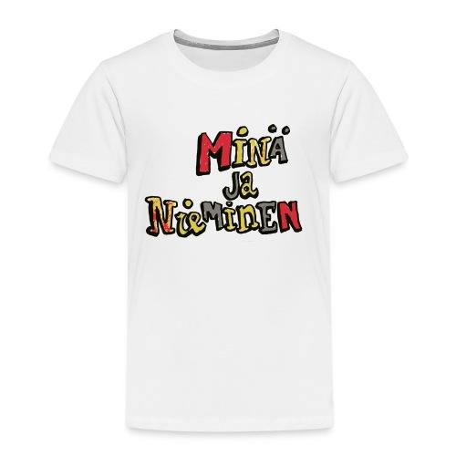 minäjanieminenlogo - Lasten premium t-paita