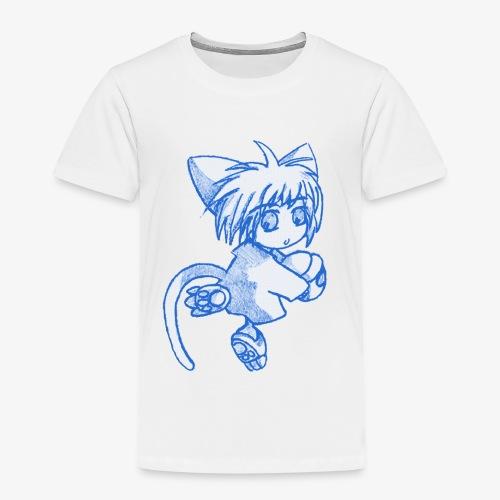Puccina Matita blu (style manga, grezzo) - Maglietta Premium per bambini