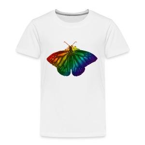 Regenboog vlinder - Freedom, Love en Happiness - Kinderen Premium T-shirt