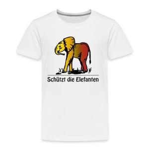 Schützt die Elefanten(-Kinder) - Kinder Premium T-Shirt