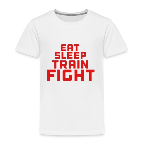 Eat sleep train fight - Kids' Premium T-Shirt