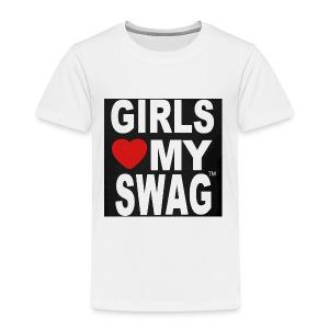 GIRLS LOVE MY SWAG T-SHIRT - Kinder Premium T-Shirt