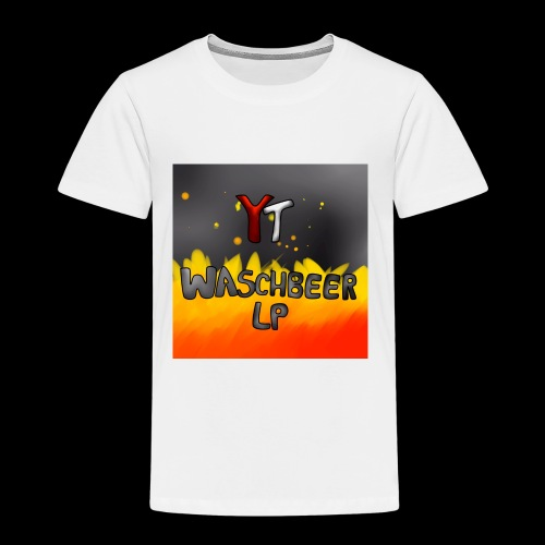 Waschbeer Design 2# Mit Flammen - Kinder Premium T-Shirt