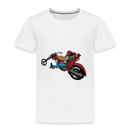 Biker auf Chopper - Kinder Premium T-Shirt