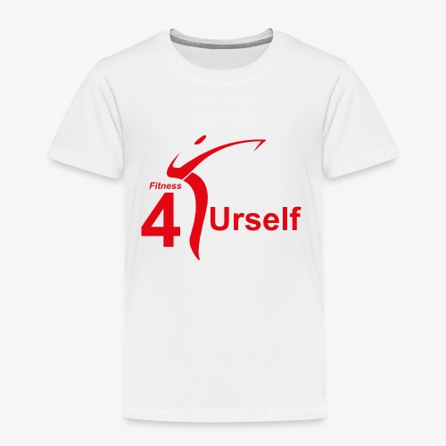Fitness 4 Urself Logo cmyk rot - Kinder Premium T-Shirt