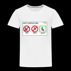 Windowseat Safety Instructions - Kids' Premium T-Shirt