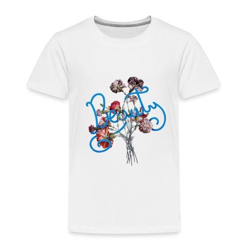 Typographie du mot beauté en anglais - T-shirt Premium Enfant