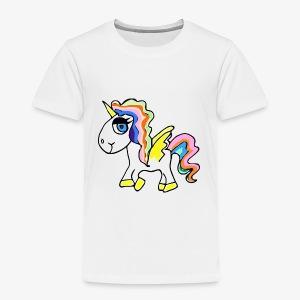Buntes lässiges Einhorn - Kinder Premium T-Shirt