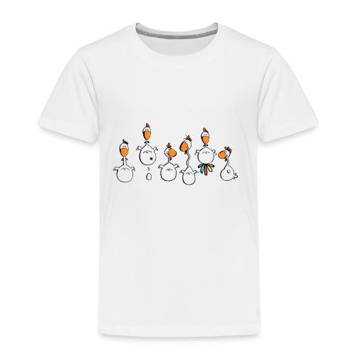 crazy chicken - Kinder Premium T-Shirt