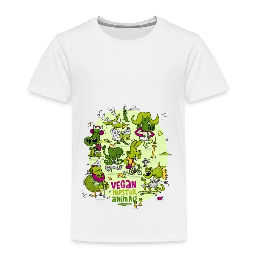 Vegan Hipster Animals - Kinder Premium T-Shirt