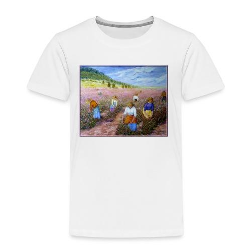 LA CUEILLETTE DES ROSES A GRASSE AUTREFOIS 1mx81 2 - T-shirt Premium Enfant
