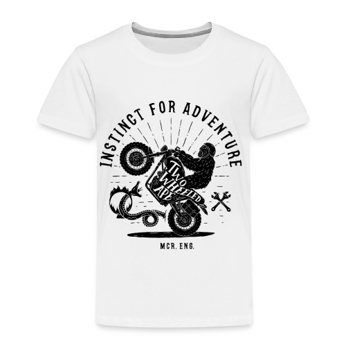 Two Wheeled Ape Wheelie Biker T shirt - Kids' Premium T-Shirt