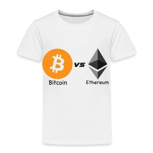 Bitcoin vs ethereum - Maglietta Premium per bambini