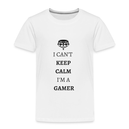I CAN T KEEPCALMI M A GAMER NOIR - T-shirt Premium Enfant