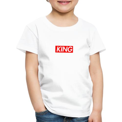 KING Box Logo Design Pärchenmotiv/ Pärchengeschenk - Kinder Premium T-Shirt