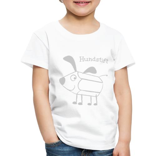Hundstift Hugo lacht, schwarz - Kinder Premium T-Shirt