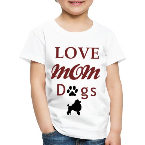 mom love dogs chiwawa transpar modi - T-shirt Premium Enfant