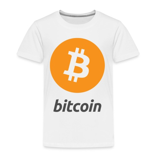 Bitcoin Logo Vertical - Kinder Premium T-Shirt