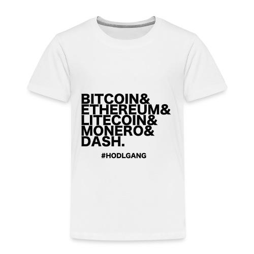Bitcoin & Ethereum, cooles Crypto Design - Kinder Premium T-Shirt