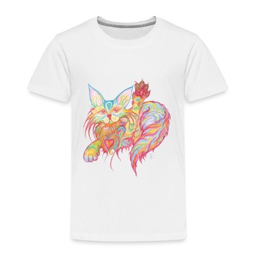 Winkekatze mit Herz - Kinder Premium T-Shirt