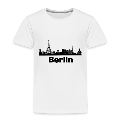 Verwirrende T-Shirts Berlin Paris Skyline - Kinder Premium T-Shirt